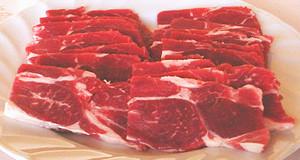 ホゲット肉の手切り焼肉
